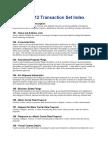 EDI X12 Transaction Set Index