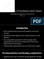 Complications of Prosthetic Heart Valves
