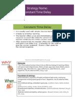 Constant Time Delay Handout
