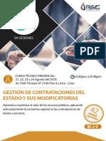CURSO NUEVA LEY DE CONTRATACIONES DEL ESTADO (AGOSTO 2018)