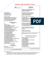 Antología de Canciones y Poemas Para Inferir El Yo Poético