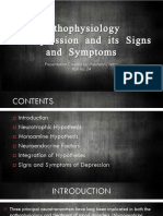 Pathophysiology of Depression