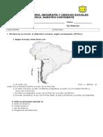 Prueba Geografía Cuarto