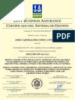 Certificado OHSAS