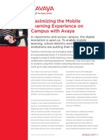 Maximizing the Mobile Learning Experience on Campus With Avaya Uc7029