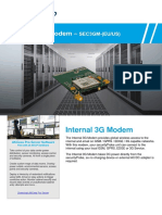 Internal 3G Modem