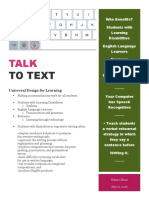Talk to Text Flyer