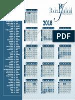 Calendario Poder Judicial 2018