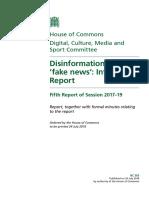 informe parlamento británico