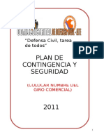 Plan Contigencia de Seg. Ciudadana