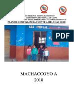 PLAN DE CONTINGENCIA FRENTE A HELADAS 2018 (MODELO)