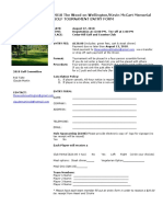 Golftournament Entry Forms