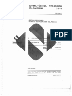 NTC 31010 Tecnicas de Valoracion Del Riesgo
