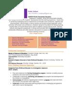 resume portfolio 2