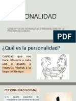 Anormalidad y Trastornos de Personalidad