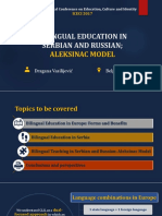 Bilingual Education in Serbian and Russian