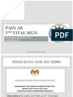Pain as 5th Vital signs