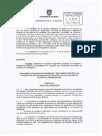 Reglamento Becas DP Decreto 2014 018