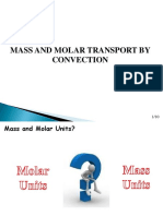 Mass and Molar Trasnport by Convection