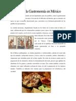 Historia de La Gastronomía en México