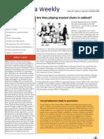 Zambia Weekly - Week 39, Volume 1,  1 October 2010