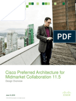 Cisco Preferred Architecture for Midmarket Collaboration