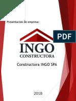 Presentacion Constructora Ingo Spa 2018