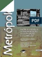 Metrópoles Entre a Coesão e a Fragmentação, A Cooperação e o Conflito