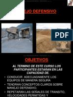 Curso Manejo Defensivo Prevencion Accidentes Transito Maquinaria Mina Actos Inseguros Seguridad Condiciones Reglas