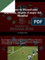 Luis Miguel Urbina - El Golazo de Pavard Ante Argentina, Elegido El Mejor Del Mundial
