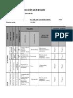 Matriz de Identificacion de Riesgo