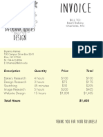 hames invoice bees bakery