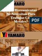 Armando Iachini - ¿Qué Herramientas Se Necesitan Para Trabajar Con Metales?