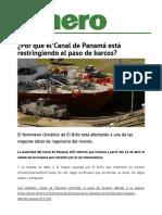 Por Que El Canal de Panama Esta Restringiendo El Paso de Barcos