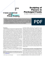 Scalping of Flavors in Packaged Foods