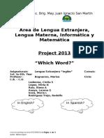 Proyecto para  Ingles