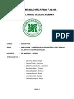 Analisis de La Sensibilidad Diagnostica Del Tendon Del Musculo Supraespinoso
