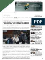 ¿Autoridades peruanas pueden negarse a la restitución internacional del menor_ — La Ley - El Ángulo Legal de la Noticia.pdf