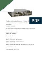 Configuración básica Routers y Switches Huawei
