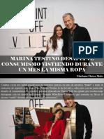 Mariana Flores Melo - Marina Testino Desafía Al Consumismo Vistiendo Durante Un Mes La Misma Ropa
