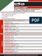 Ficha Tecnica Arrow Tempo 150