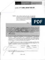 RESOLUCION N°1381-2018-TCE (RECURSO APELACION)