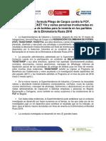 Pliego de Cargos a Directivos de Fedefutbol y Dimayor por Reventa de Boletas en Eliminatoria