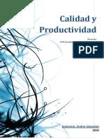 Calidad y Productividad de una Industria