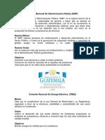 Mision Vision de de Empresas Publicas y Privadas en Guatemala