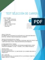 Test Selección de Carrera