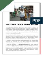 Historia de La Etnia Negra