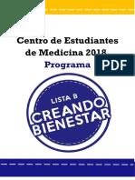 Programa Lista B 2018