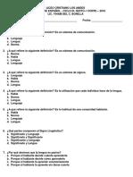Evaluacion de Español Sexto i Corte