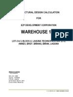 Warehouse Calculation